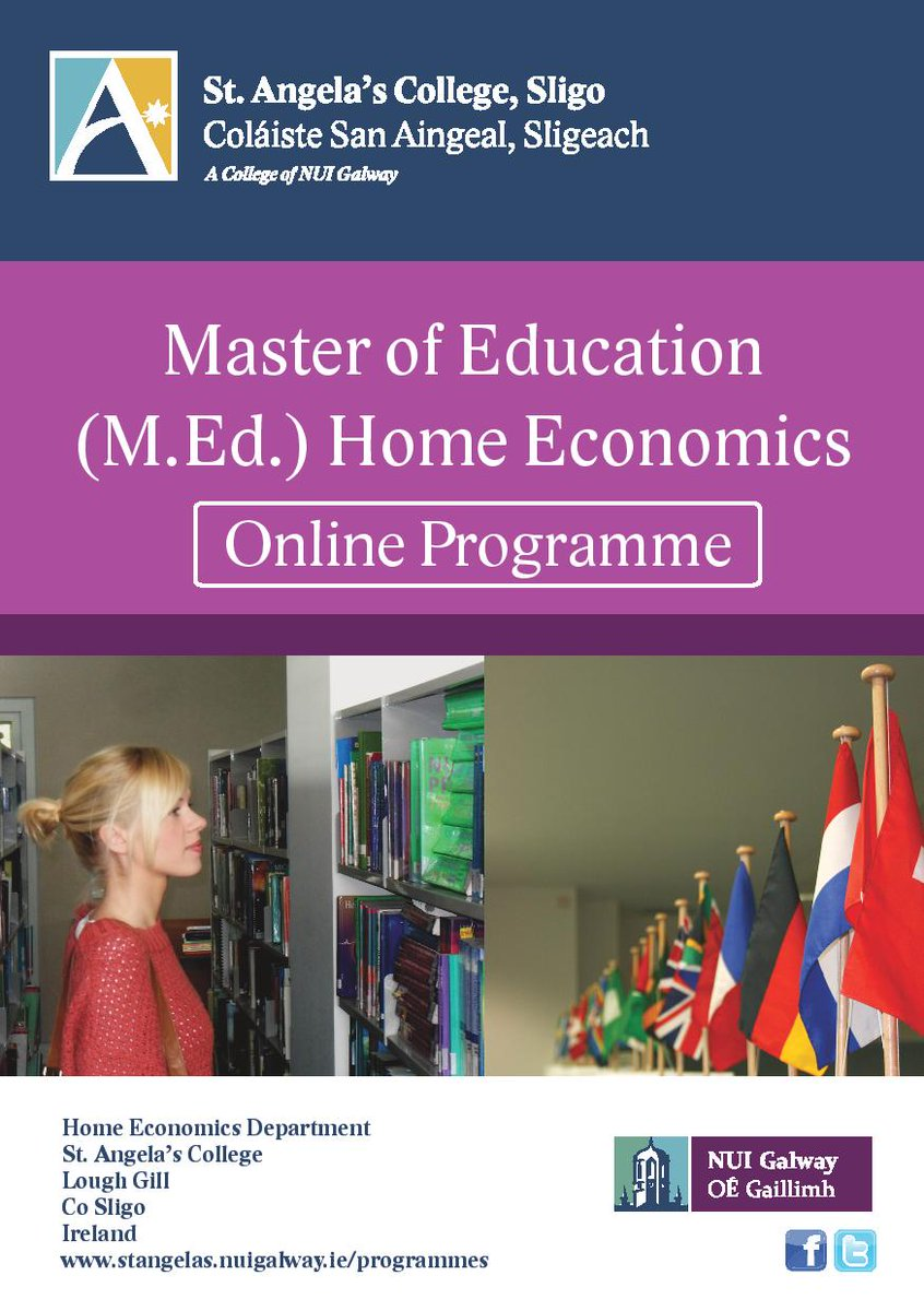 Master of Education Home Economics Online Programme