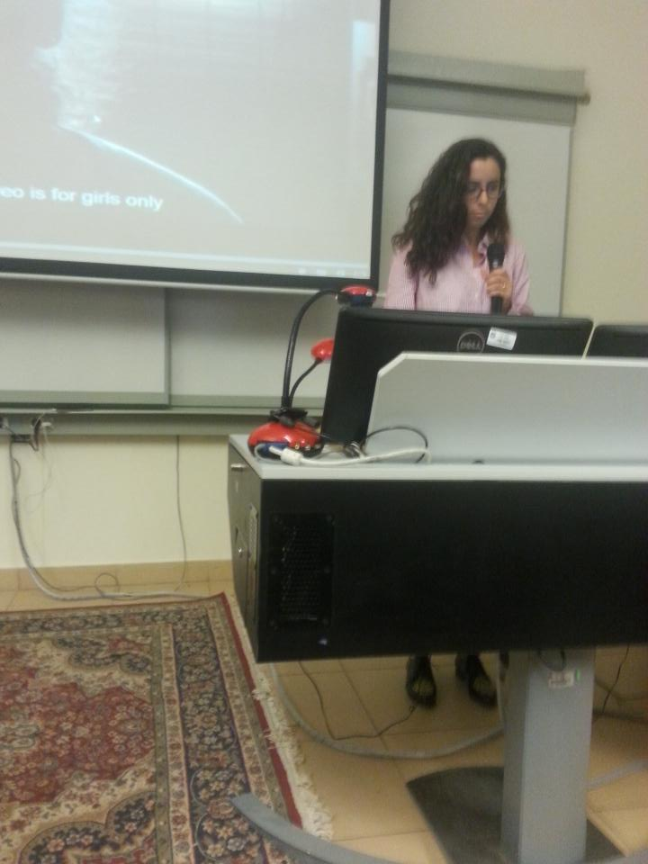 Ever since 2006 the source of Sarrah Abdelrahman's happiness was YouTube. #aucsmc #aucnow http://t.co/mhm6ky3VCk