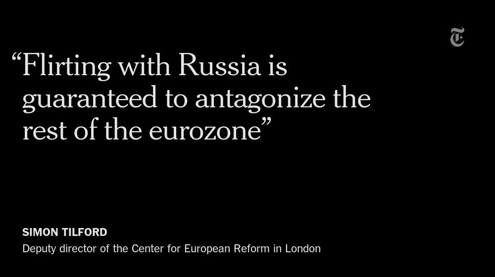 As Greece's deal with Europe stumbles, Prime Minister Alexis Tsipras prepares to visit Putin. http://t.co/QSstzuEDd4