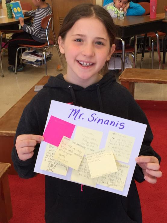 #cantiague @TonySinanis Tess making a Positive Post-it note delivery to Mr. Sinanis. http://t.co/Vw8iqlSUEz
