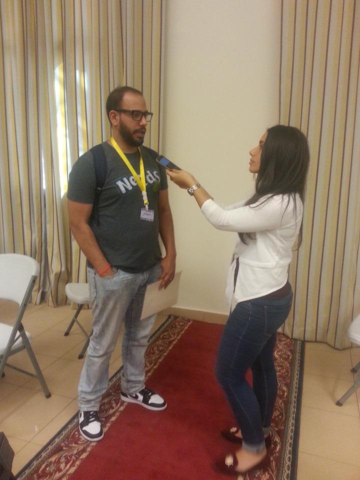 Currently interviewing Comedian Rami Boraie. #aucsmc http://t.co/1hdSan2VEK