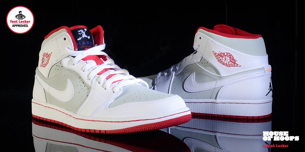 air jordan 1 mid white footlocker