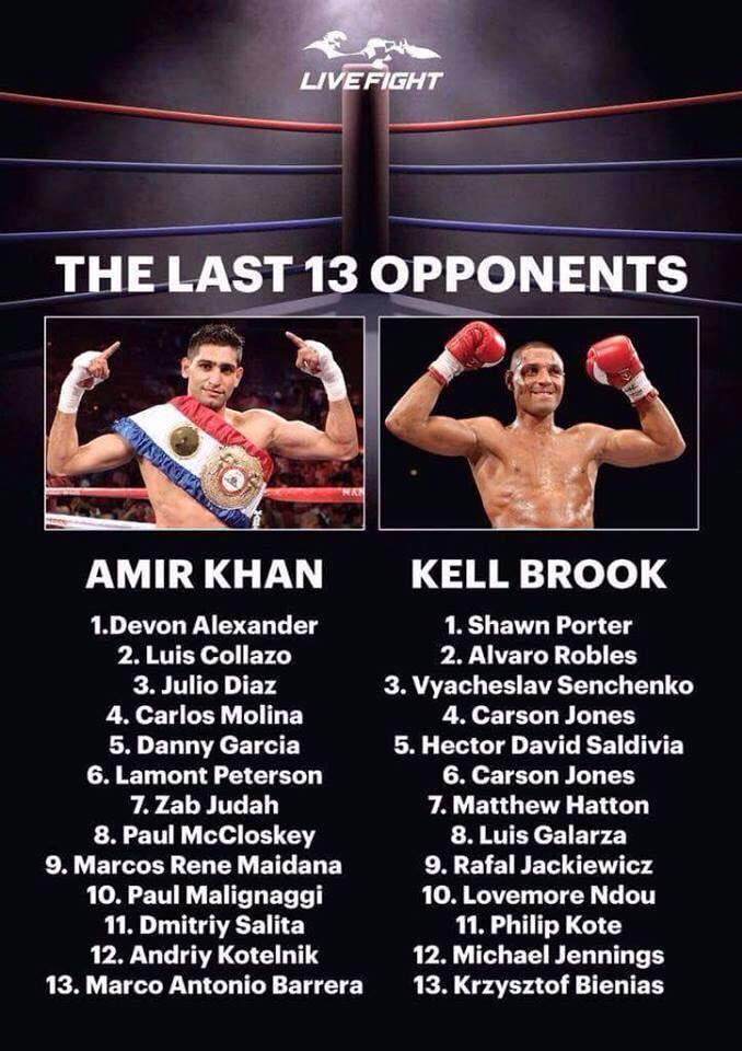 RT @LucasBaines: Say no more! @SpecialKBrook is a good boxer but @AmirKingKhan is in another league! 🙌 #battleofbritain #kingkhan http://t.…