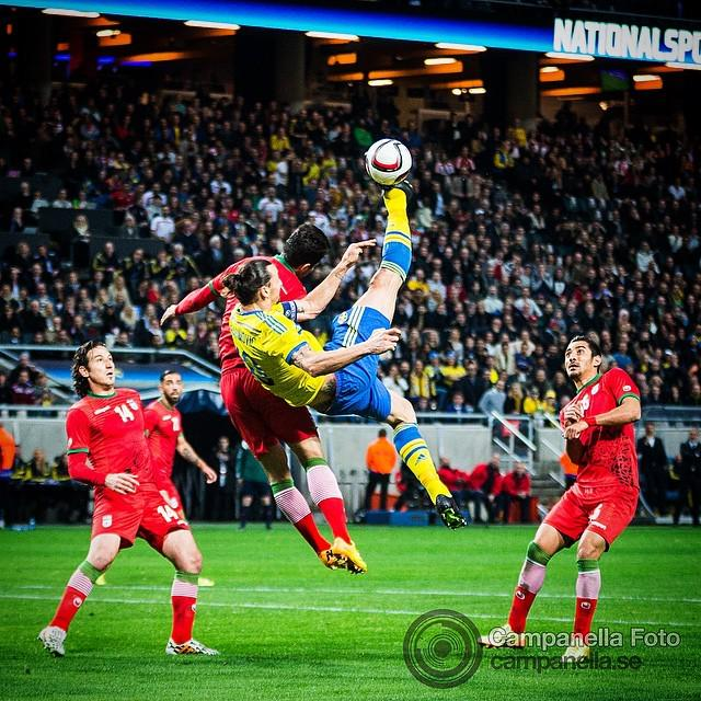 "Michael Campanella on Twitter: ""Sweden captain Zlatan ... Zlatan Ibrahimovic Bicycle Kick"