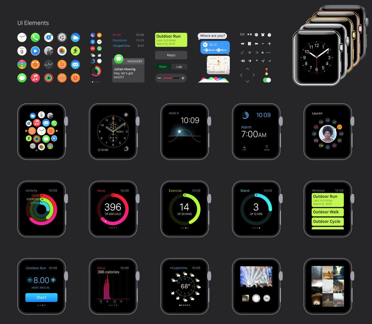 Apple Watch GUI for Sketch from @mengto https://t.co/1lN1o3GDD3 http://t.co/65KgC42da3