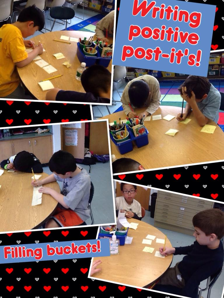 So excited to fill buckets at Cantiague! @TonySinanis #cantiague #positivepostits http://t.co/qD5u0pDsHp