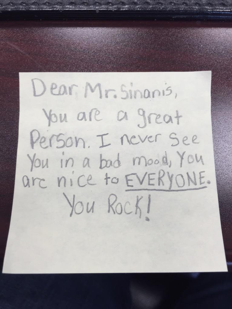 This note from a #Cantiague kid is better than any evaluation NYS can ever give me! #PositivePostItDay http://t.co/Zb7vQEeeIo