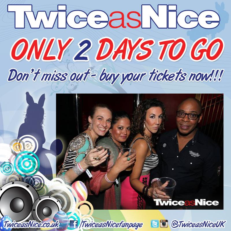 RT @TwiceasNiceUK: Only 2 days 2 go till TwiceasNice @ScalaLondon Easter Thurs 2 April  NoWorkFriday  https://t.co/D32w4Zn0Gh @DJSpoony htt…