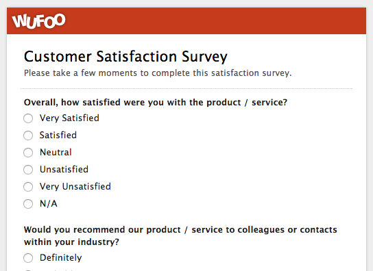design a customer satisfaction questionnaire for the following service industry hotel Which of the following are not considered part of the hospitality service industry advertising agencies all of the following quality begins with customer needs and ends with customer satisfaction a 100-room hotel that sells only 60 rooms on a particular night can inventory the 40.