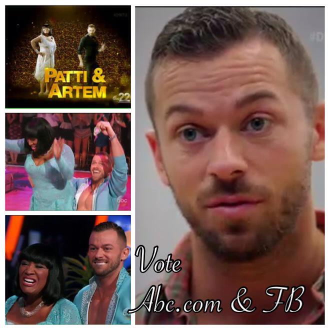 RT @Artem_World: Only 1.5 hrs left to vote online for @artemchigvintse @MsPattiPatti - they love to dance for y'all #TeamLaBelleArtem http:…