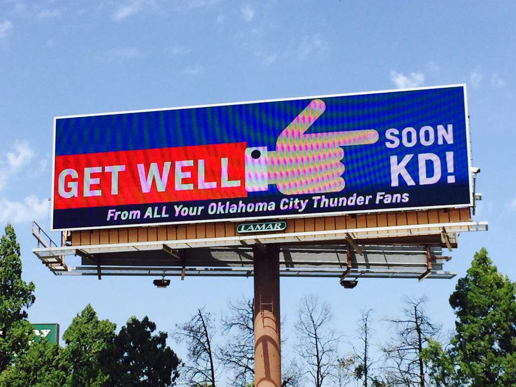 OKC's largest get well soon card... http://t.co/tUD0hZjhM9