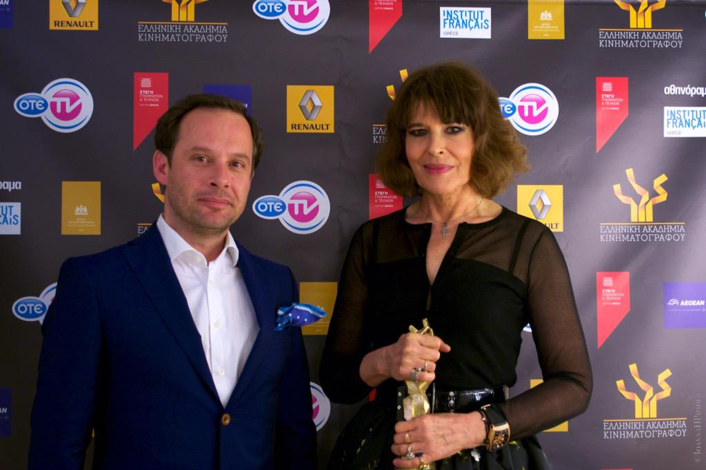 Proud and honoured to award an exceptional and extraordinary Lady #HellenicFilmAcd #greekfilmAwards2015 #Fanny Ardant <br>http://pic.twitter.com/uWVX5CRzNY