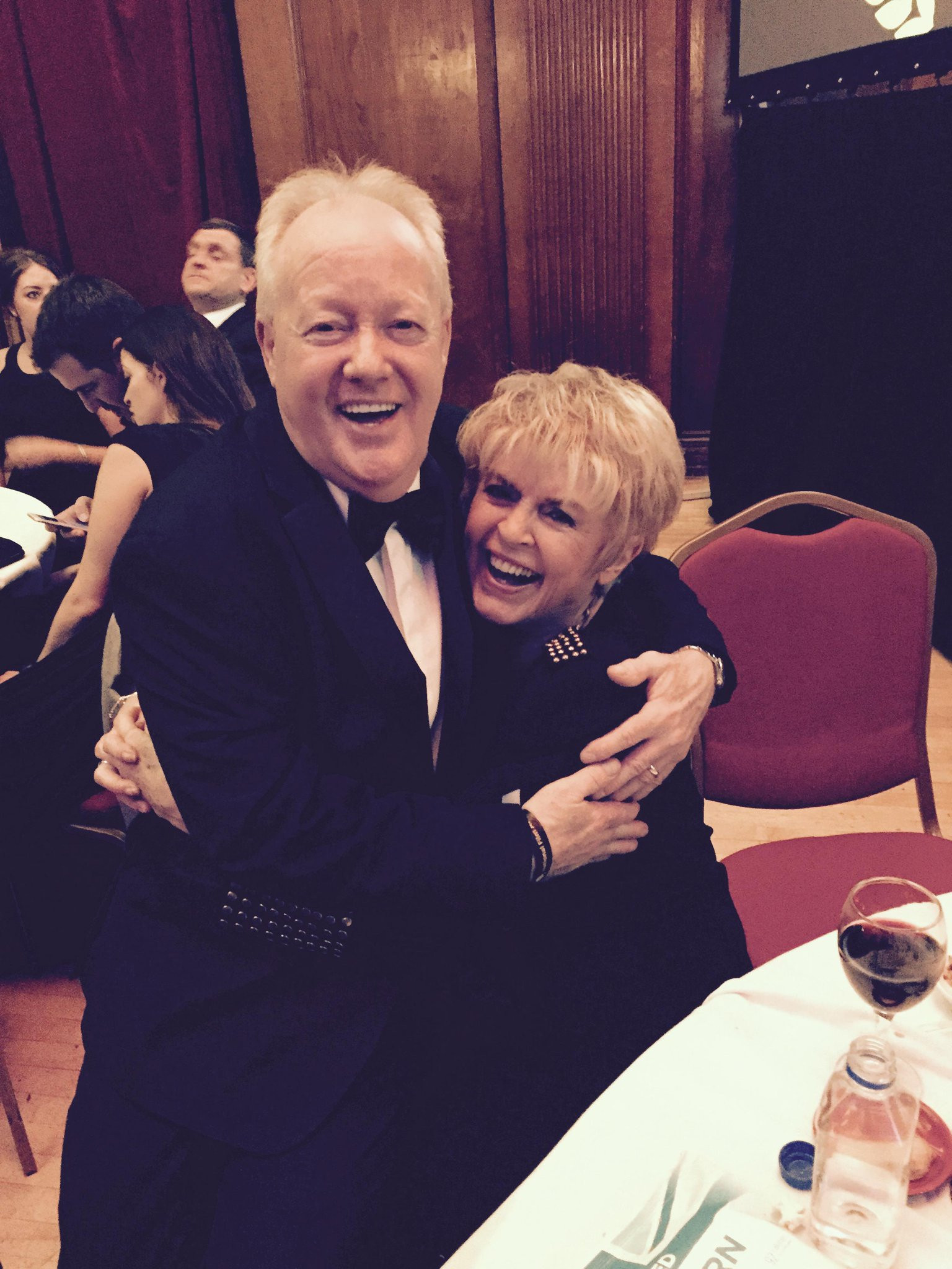 At NFA. She's so lovely - Gloria cuddly Hunniford http://t.co/IwJVkGa2zS