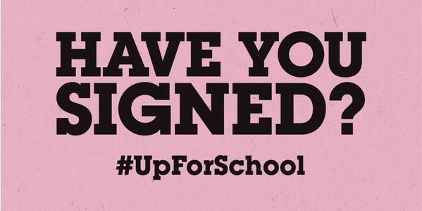 Nearly 5 million people have called for world leaders to stand #UpForSchool! Have you? Sign: http://t.co/5AhKuhqDZf