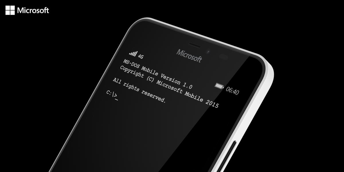 A bold new OS. Say hello to MSDOS Mobile. #MSDOSmobile http://t.co/bZnMVN74jy http://t.co/AJ6BrPGUB8