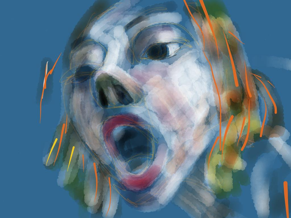 Woman shouting, No. 1330  #draw365 #thedailysketch #drawing http://t.co/dkYIrmzE9e
