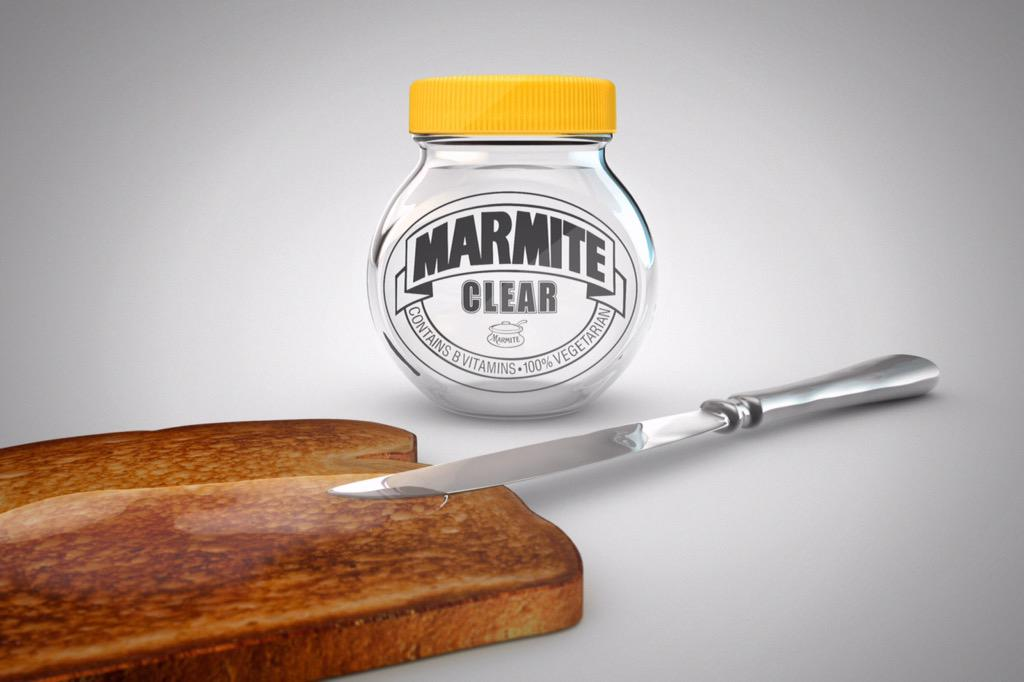 Proud to introduce the newest member of the family… Say hello to  #MarmiteClear everyone! http://t.co/TTDa5cwUd9