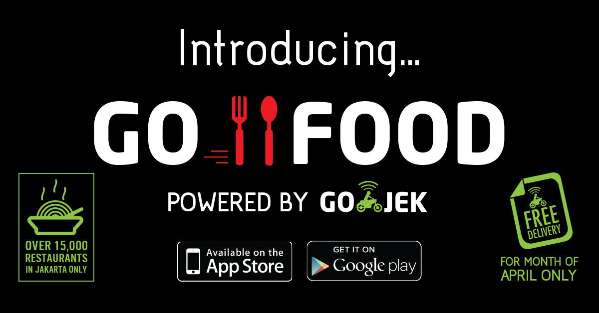Go jek on twitter go food 100 free delivery untuk bulan for Order food to go