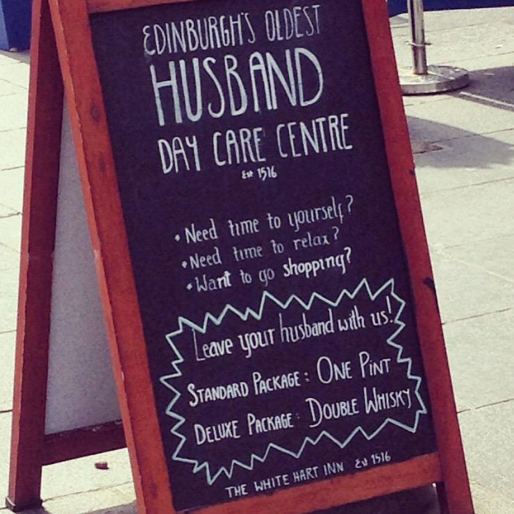 Husband Day Care Centre, now there is a...