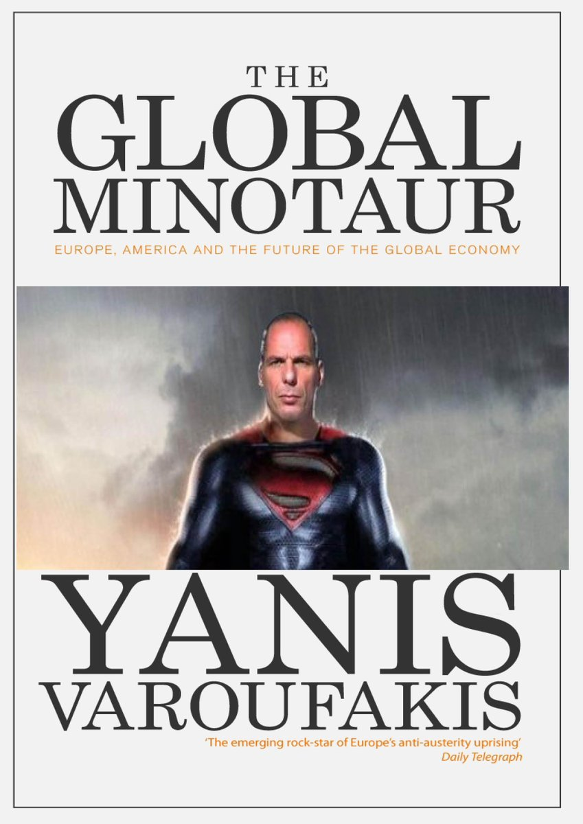 """Zed Books on Twitter: """"Excited to unveil cover for 'The Global Minotaur' - also with colour picture section of #Varoufakis action shots http://t.co/06aOwM2qkQ"""""""