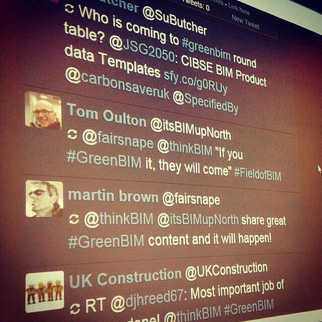 Today's tweet wall #GreenBIM http://t.co/rHdgeHXjpu