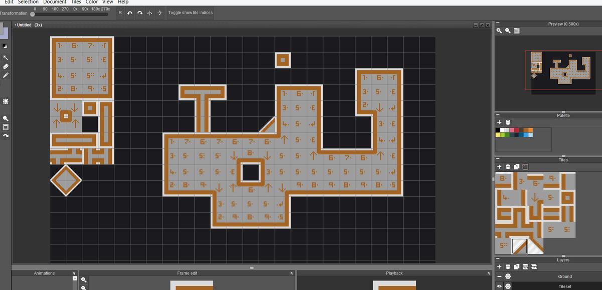 joe williamson on twitter making a simple 16x16 platformer tileset