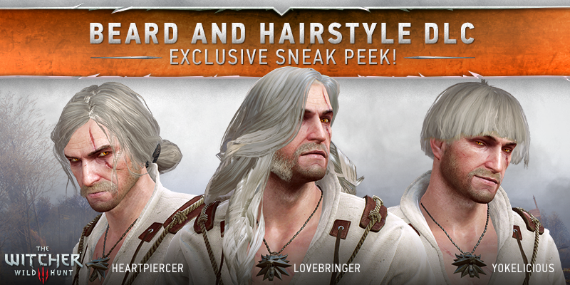 "Witcher 3 Hair Styles: The Witcher On Twitter: ""Beard And Hairstyle DLC! Get Your"
