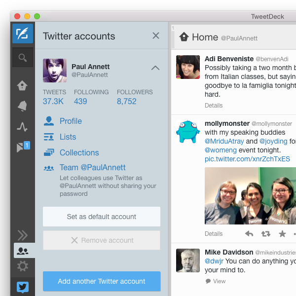 Latest TweetDeck for Mac now in the App Store. New: Teams, Group DMs, GIF support & more.  http://t.co/7nkuZRQ1in