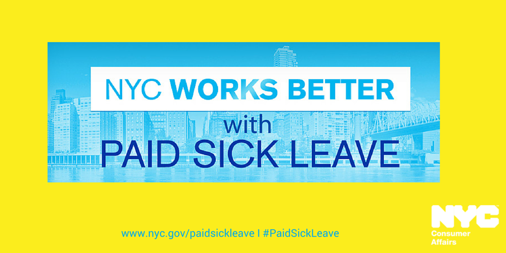1 year ago Mayor @BilldeBlasio expanded #PaidSickLeave law bringing this benefit to millions http://t.co/PigW0hAvis http://t.co/Bhoxk8zK6O