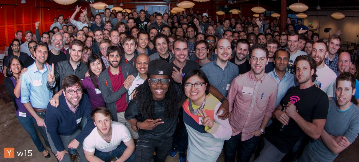 Winter 2015 of YC was excellent. An awesome photo of the batch taken by @PrettyInstant http://t.co/rAxXCU51DP