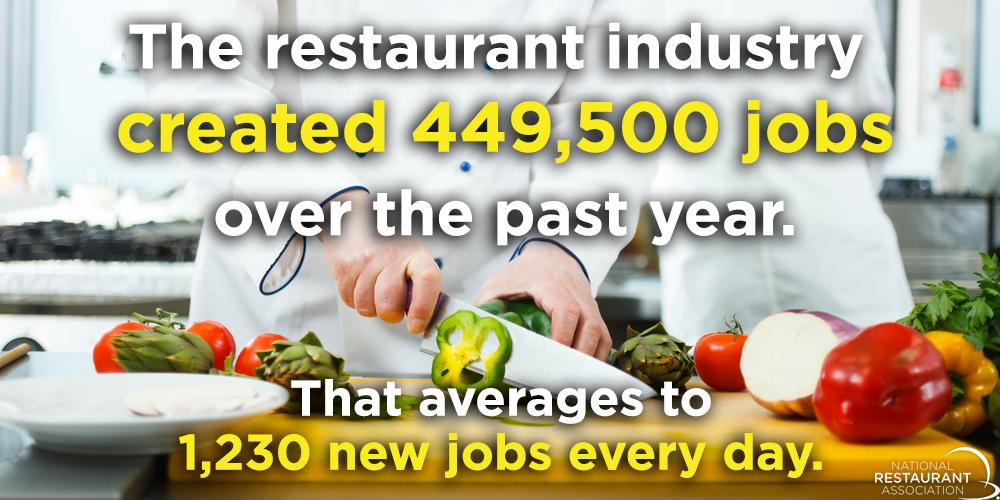Please retweet if you're proud to be part of an industry that feeding America's economy #RestaurantsWork http://t.co/V4vQJ9CbEA