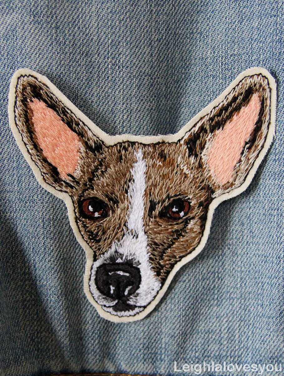 Custom Pet Free Hand Machine Embroidered Patch/Brooch! Available here:http://t.co/iKElltLPnA  @HandmadeHour @HMNation http://t.co/o2wjBLWZcY