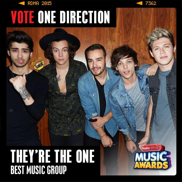RT to vote for #OneDirection #TheyreTheOne @radiodisney #RDMA @onedirection #HiddenARDY