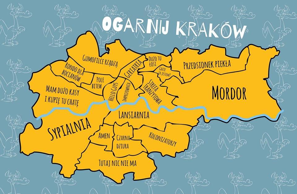 Tomasz Cwiakala On Twitter Fachowa Socjologiczna Mapa Krakowa