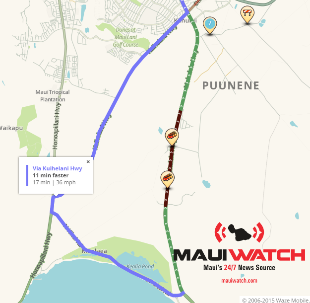 Maui Traffic Map.Mauiwatch On Twitter Trafficwatch Hitraffic Looking At Our Live