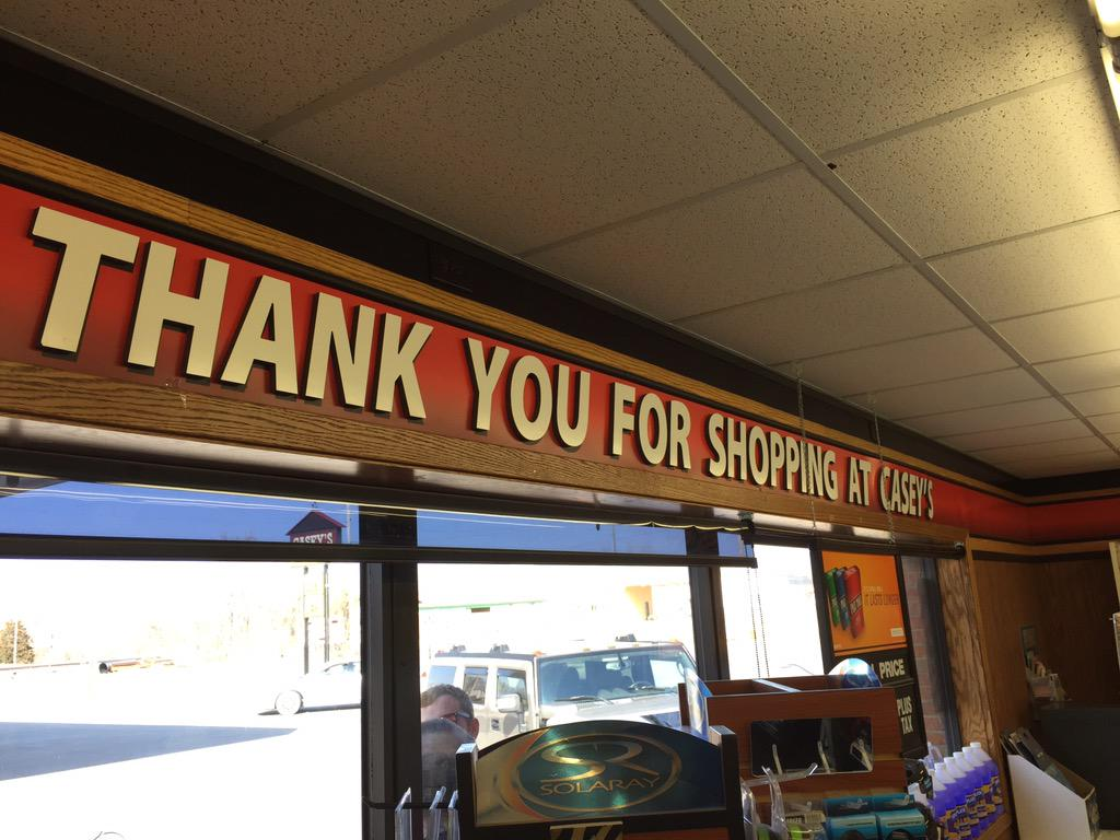Thank YOU, Casey's in Walkerton, IN for not discriminating. We were happy to buy $100 worth of pizza from you. http://t.co/TL80trsuC2