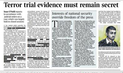 How we're reporting the secret ******* terror trial and the assault on open justice in tomorrow's @thetimes http://t.co/ic7fycM2Ux