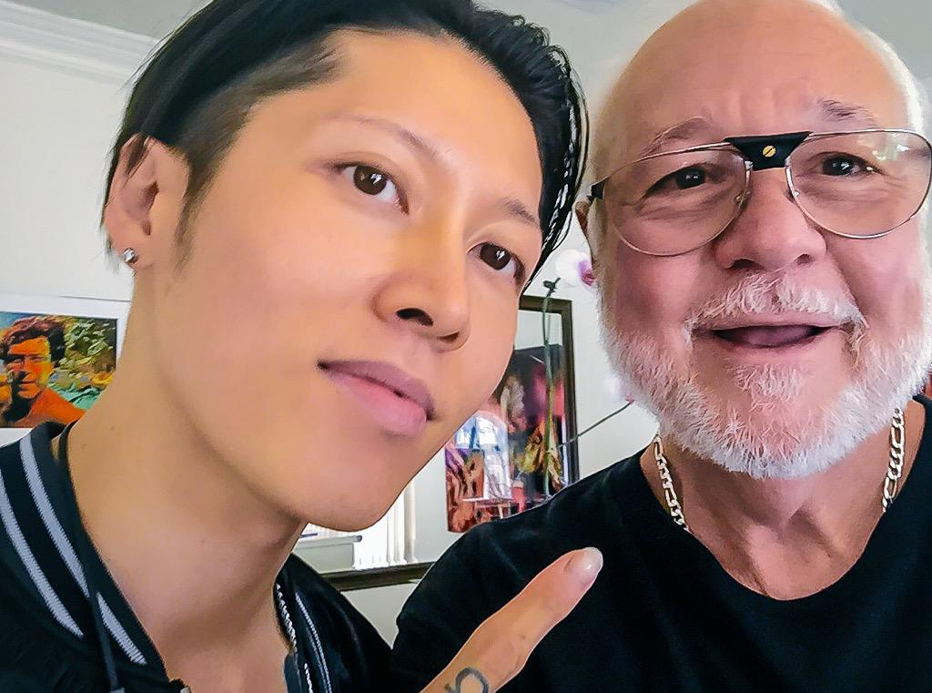 Enjoying my day with a great guy @MIYAVI_OFFICIAL fun #unbroken style #miyaviforall #rockstar #bird #passionformusic http://t.co/ZR9JqERaTw
