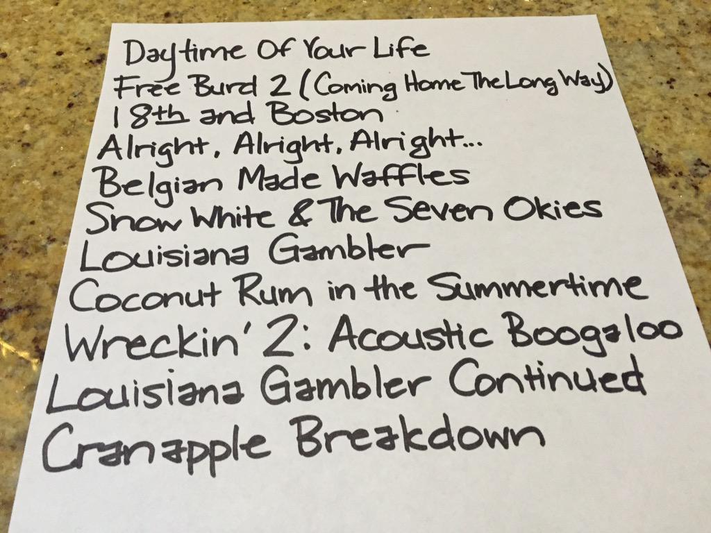 "Track listings for new album!  Tentatively titled  ""The New Bad Boys of Country"" http://t.co/b5sPL84urY"