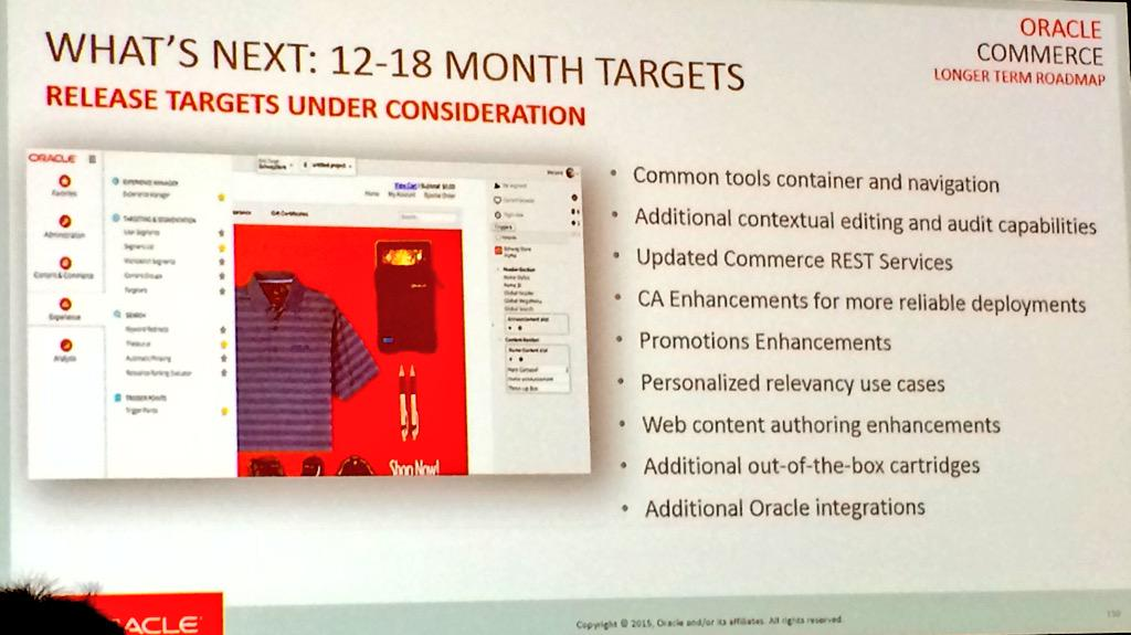 What's next for Oracle. 12 - 18 month targets. #MME15 #OracleCX15 http://t.co/Av7LekNDro