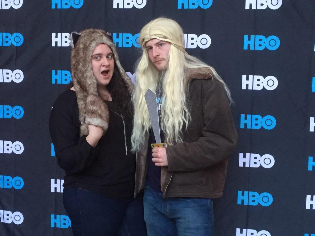 @LukeMetzler and student body president Antoinette Esce seem to be enjoying the Season 5 #GoTPremiereUR http://t.co/45JRJiqwpM