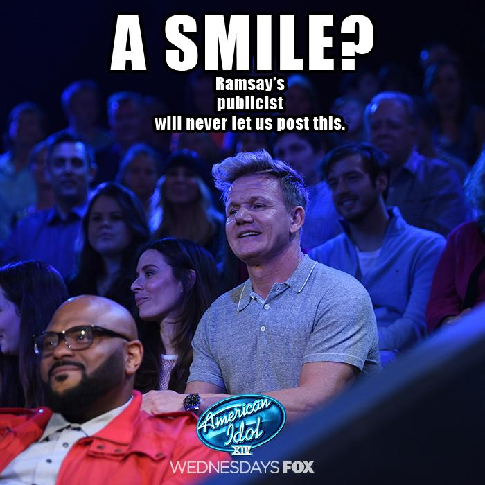 RT @AmericanIdol: This is what it looks like when someone makes Chef @GordonRamsay a beef wellington correctly! 😂 #RamsayOnIdol http://t.co…