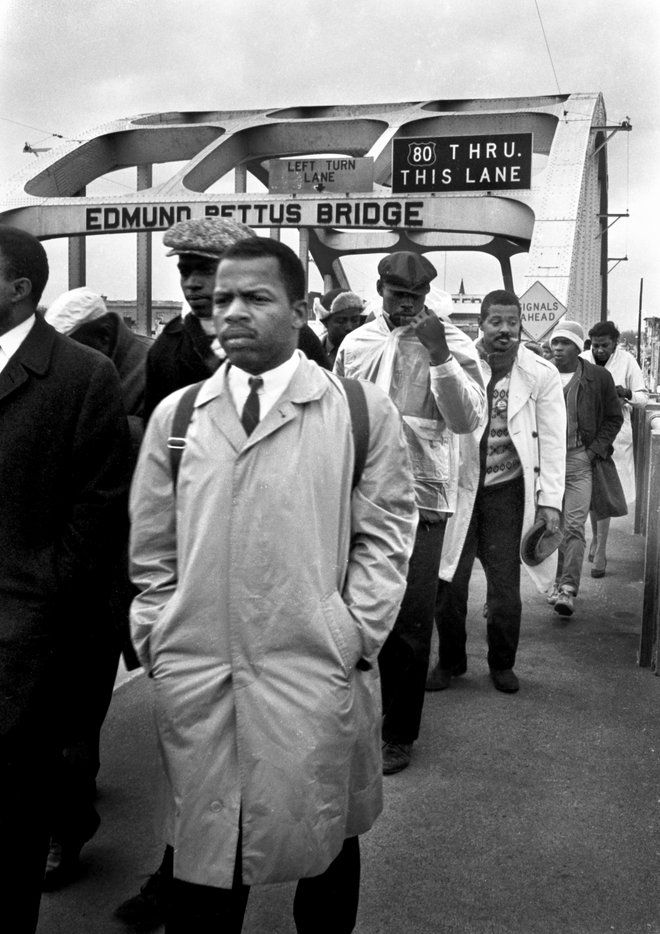 Congressman John Lewis marching in Selma. http://t.co/WZzw4XH6j9