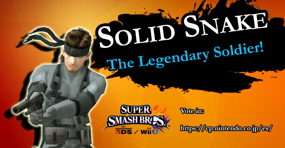 ¡Votad a Solid Snake para su regreso al Super Smash Bros! CBkw5bBXIAI-DeZ