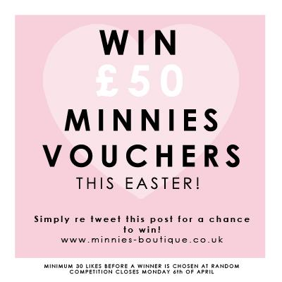 Competition Time!! Re tweet this post for a chance to win £50 Minnies Vouchers! http://t.co/jqnYHx2PHH