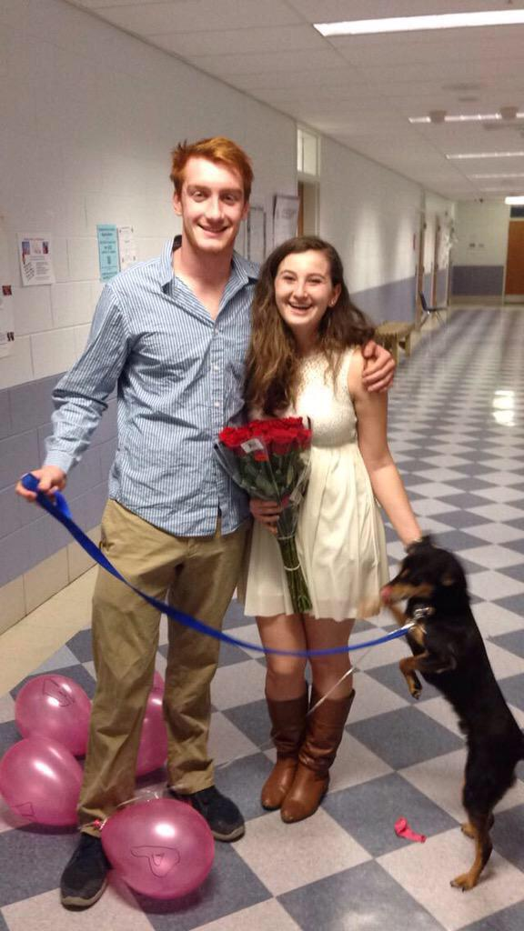 Bcc Promposals On Twitter Hot Diggity Dog Congrats Justin And