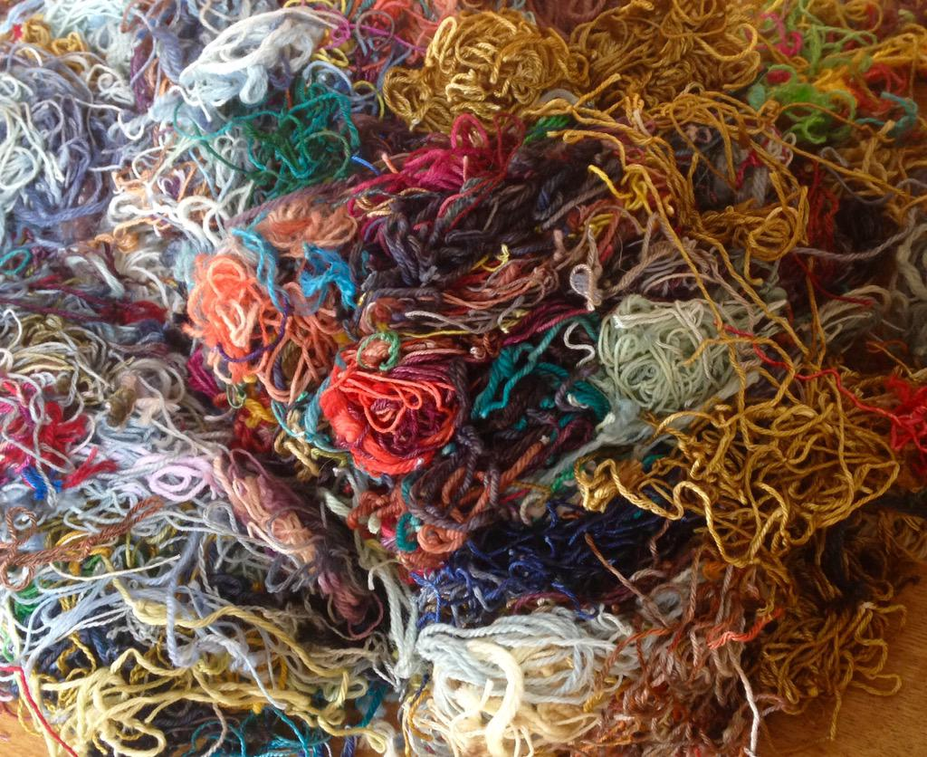 Any takers for a bunch of yarn ends? Good for textile projects, stuffing, school art. Free - just price of postage http://t.co/zPl4lMwJMQ