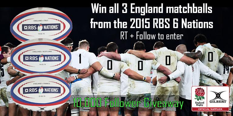 #Win a date stamped match ball from each home @EnglandRugby 6 Nations game! RT+Follow to enter! #Gilbert10KGiveaway http://t.co/I5AFwoJFOf