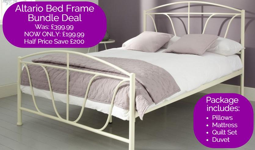 Bensons For Beds On Twitter Half Price Altario Metal Bed Frame