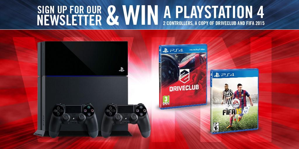 Share this tweet and click the link to enter our latest #competition to win a #PS4. Enter here http://t.co/H05e2yokHz http://t.co/q3FdHb6ECh